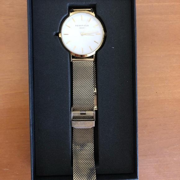 Rosefield Mercer Watch in White Gold